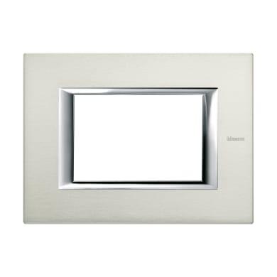 Placca BTICINO Axolute 3 moduli alluminio sapzzolato