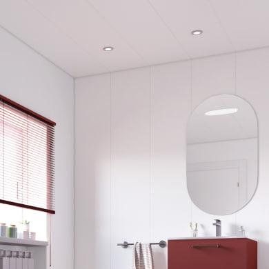 Perlina pvc opaco bianco 1° scelta L 260 x H 37.5 cm Sp 8 mm