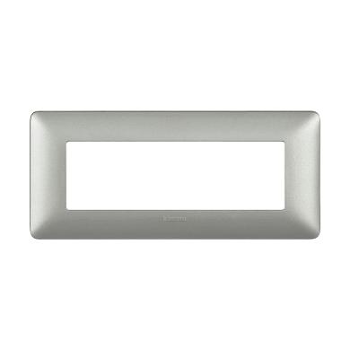 Placca BTICINO Matix 6 moduli silver