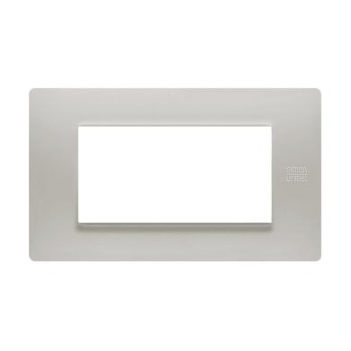 Placca Nea Flexa SIMON URMET 4 moduli polvere