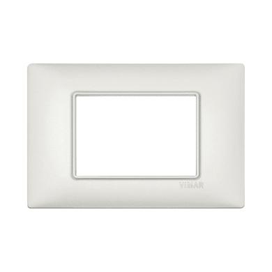 Placca VIMAR Plana 3 moduli argento perlato