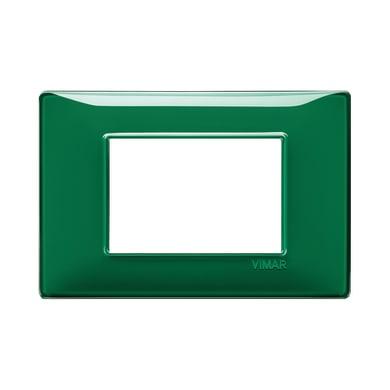 Placca VIMAR Plana 3 moduli reflex smeraldo