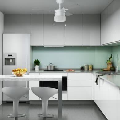 Ventilatore da soffitto Ana, grigio argento/bianco, D. 91 cm