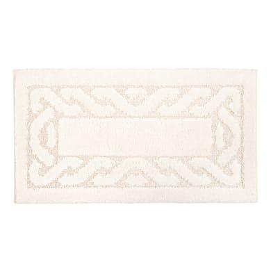 Tappeto bagno rettangolare Dalì in 100% cotone beige 110 x 55 cm