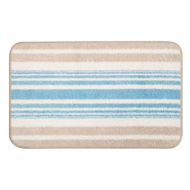Tappeto bagno rettangolare Monet in cotone azzurro 80 x 55 cm