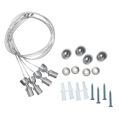 Accessori striscia led INSPIRE in metallo argento 20 pezzi
