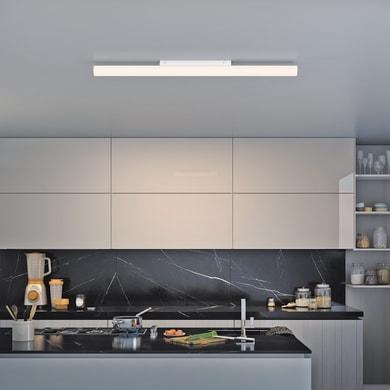 Lampadario Design Analeen LED integrato bianco, L. 120 cm, INSPIRE