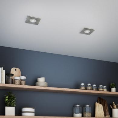 Faretto da incasso orientabile quadrato Dennis  in Alluminio nichel, 5.5x8.2cm Diodi LED integrati 7W IP23 INSPIRE