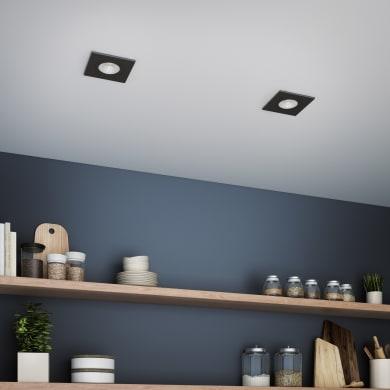 Faretto da incasso orientabile quadrato Dennis  in Alluminio nero, 5.5x8.2cm Diodi LED integrati 7W IP23 INSPIRE
