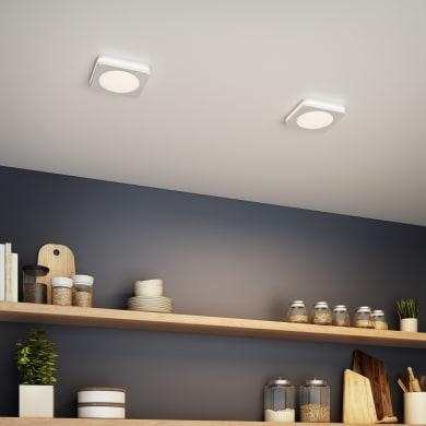Faretto fisso da incasso quadrato Albina  in Alluminio bianco, 8x8cm Diodi LED integrati 6W IP20 INSPIRE