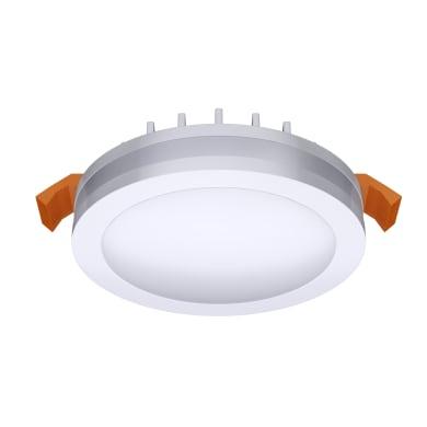 Faretto fisso da incasso tondo Albina  in Alluminio bianco, 8x8cm Diodi LED integrati 6W IP20 INSPIRE
