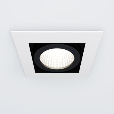 Faretto orientabile da incasso quadrato Elon in metallo, bianco, 10.2x9.0cm LED integrato 5W 550LM IP23 INSPIRE