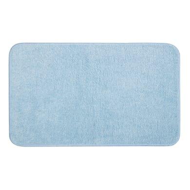 Tappeto bagno rettangolare Van gogh in cotone azzurro 80 x 50 cm