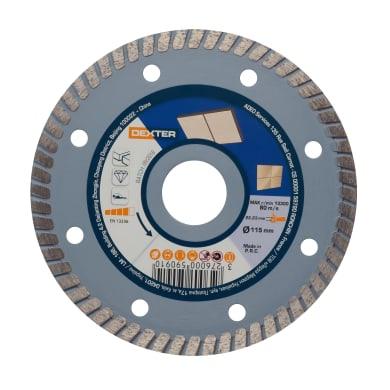 Disco diamantato con corona continua turbo DEXTER Ø 115 mm