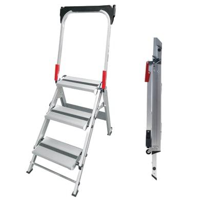 Scala doppia GIERRE Sgabello professionale pieghevole in alluminio per lavori fino a 2.66 m