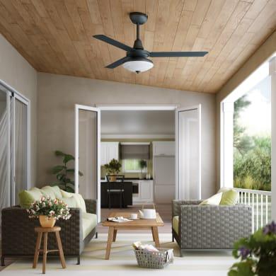 Ventilatore da soffitto Farou, grigio, D. 112 cm, con telecomando
