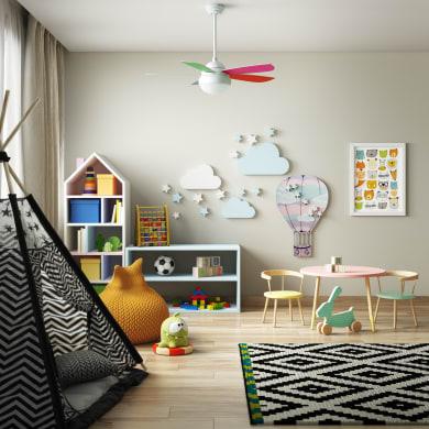 Ventilatore da soffitto Lombarde, multicolore, D. 106 cm, con telecomando