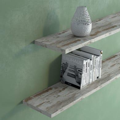 Mensola Vintage L 80 x P 25 cm, Sp 2.5 cm grigio