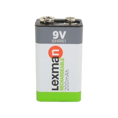 Pila ricaricabile 9 V LEXMAN 844962 1 batteria