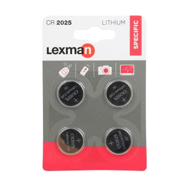 Batteria al litio CR2025 / DL2025 LEXMAN 844954 4 batterie