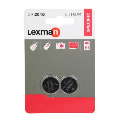 Batteria al litio CR2016 / DL2016 LEXMAN 844958 2 batterie