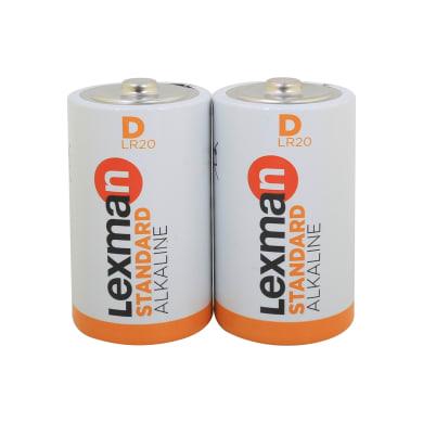 Pila alcalina LR20 D LEXMAN 844972 2 batterie