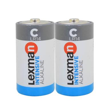 Pila alcalina LR14 C LEXMAN 844983 2 batterie