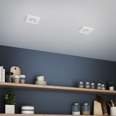 Faretto da incasso orientabile quadrato Dennis  in Alluminio bianco, 5.5x8.2cm Diodi LED integrati 7W IP23 INSPIRE