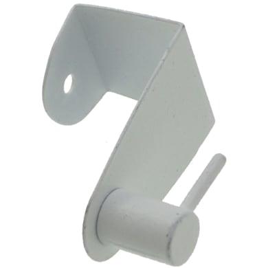 Lotto di 2 supporti di fissaggio senza foro in ferro bianco , 2 pezzi