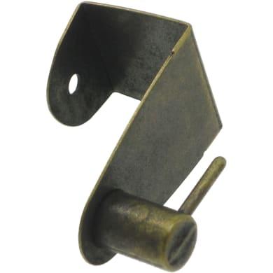 Supporto Ø25/28mm Elegance in ferro bronzo opaco, 2 pezzi