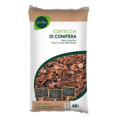 Corteccia di conifera GEOLIA certificata FSC 60 L