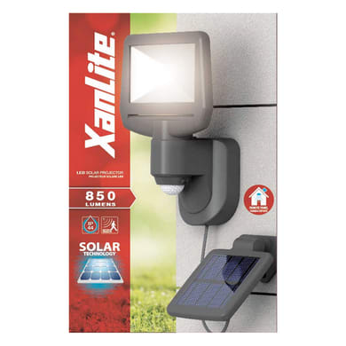 Proiettore solare PRS900D Power LED nero 850LM IP44 XANLITE