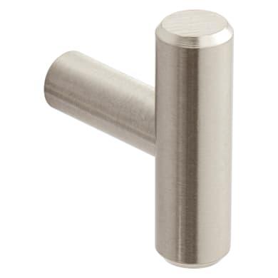 Pomolo per mobile in acciaio grigio / argento spazzolato