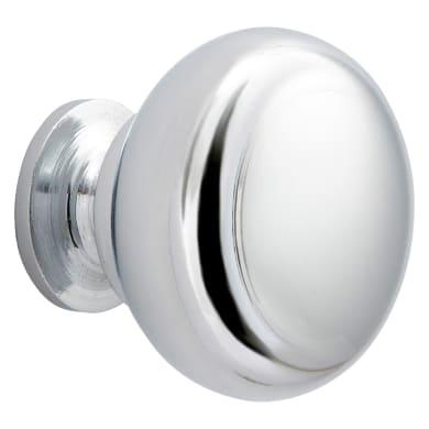 Pomolo per mobile in acciaio grigio / argento lucido