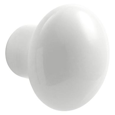 Pomolo per mobile in ceramica bianco naturale
