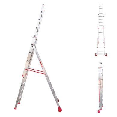 Scala a sfilo FARAONE S3.EM in alluminio 3x8 gradini per lavori fino a 4.5 m