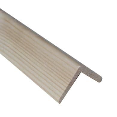 Paraspigolo in abete naturali L 3 m x H 45 x Sp 45 mm