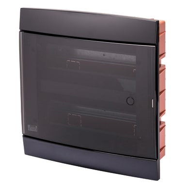 Centralino a incasso 24 moduli IP40 GEWISS nero