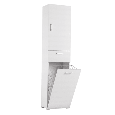 Mobile lavanderia bianco L 45 x P 32 x H 195 cm