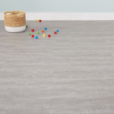 Pavimento PVC flottante clic+ Sp 5 mm grigio / argento
