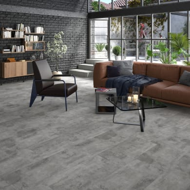 Pavimento pvc flottante clic+ Zinc Sp 4.2 mm grigio / argento