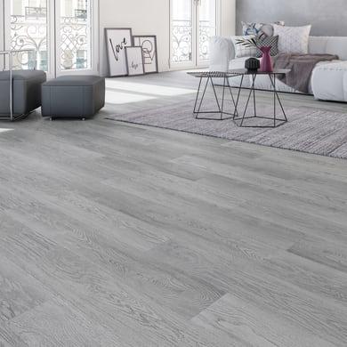 Pavimento pvc flottante clic+ Terper Sp 4.2 mm grigio / argento