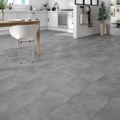 Pavimento pvc flottante clic+ Alamoso Sp 4.2 mm grigio / argento