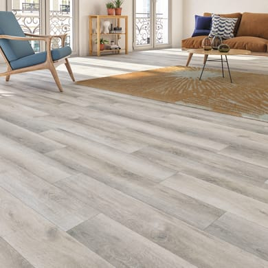 Pavimento pvc flottante clic+ Oak Sp 4.2 mm grigio / argento