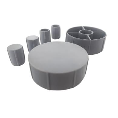 Copri buco HETTICH in plastica grigio / argento
