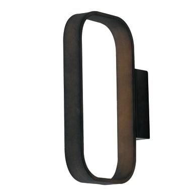 Applique design Moka LED integrato marrone, in alluminio,