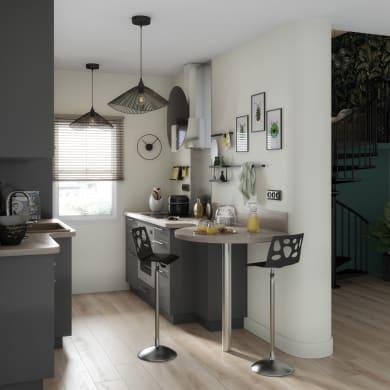 Cucina in kit DELINIA siviglia grigio L 255 cm
