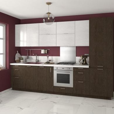 Cucina in kit DELINIA siena oslo noce L 255 cm