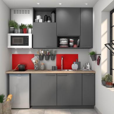 Cucina in kit DELINIA sofia grey grigio L 255 cm
