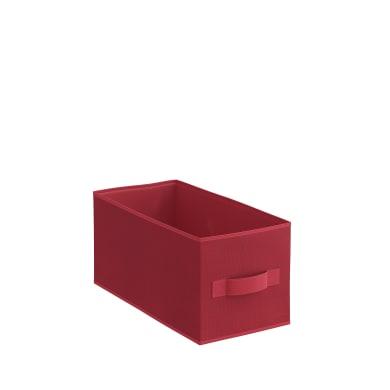 Cesta Kub L15 x H 15 x P 31 cm rosso